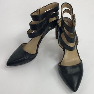 Ann Taylor Black Leather Heels
